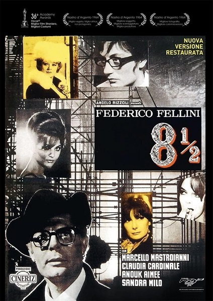 Восемь с половиной / 8½ / Otto e mezzo (Федерико Феллини / Federico Fellini) [1963, Италия, Франция, драма, BDRip 720p] [Mustang Entertainment] 3x MVO + DVO + AVO (Козлов) + Sub Rus, Eng, Fra, Ita + Comm Eng, Fra + Original Ita